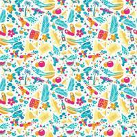 Songkran festival pattern vector