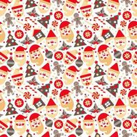 Background made of Christmas design elements