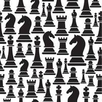 Seamless pattern with chess figures
