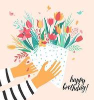 tarjeta de felicitación de cumpleaños vector