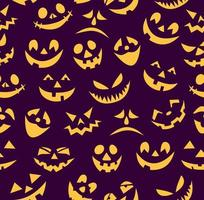 Halloween background with pumpkin faces