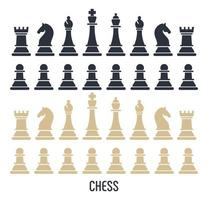 Chess figures isolated on white background