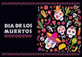Dia de los Muertos Mexican banner