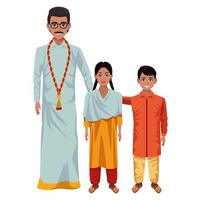 Indian family cartoon characters
