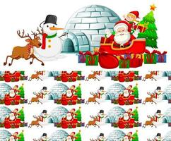 Seamless background design with christmas theme vector
