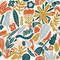 Autumn floral seamless pattern