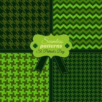 Seamless fashion pattern set of green colors