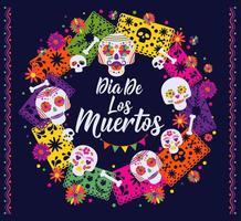 Dias de los Muertos banner vector