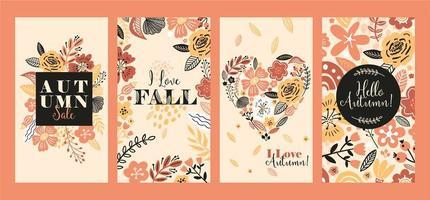 Banners florales para publicaciones en redes sociales.