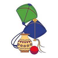 Indian national cartoon composition