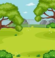 Blank green meadow in the park scene