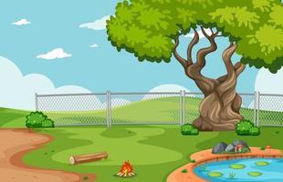Empty background nature park scenery vector