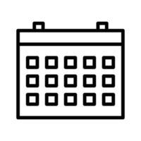 icono de vector de calendario