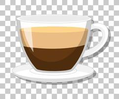 una taza de café aislado sobre fondo transparente