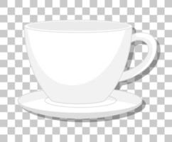 A cup of coffee isolated on transparent background vector