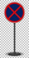 sin señal de stop sobre fondo transparente