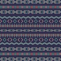 Aztec tribal seamless pattern with geometric elements