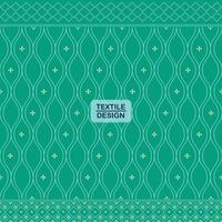 Green seamless traditional textile bandhani sari border pattern vector