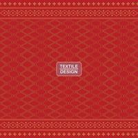 Seamless red geometric motif ulos batak pattern