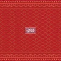 Seamless red geometric motif ulos batak pattern vector