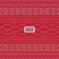 Red seamless geometric motif ulos batak pattern