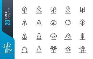 minimal tree icon set