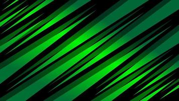 Gradient green pointed angled shapes