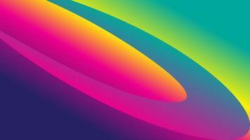 Circular bright rainbow design