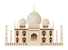 Icono de monumento y edificio nacional indio vector