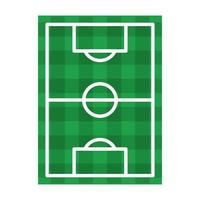Soccer field top view symbol isolated