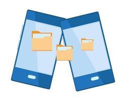 Cellphone mobile communication cartoon icon vector
