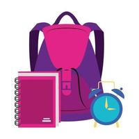 Back to school and education cartoon composition