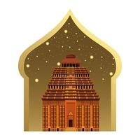 Indian national building and monument icon vector