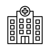 Hospital Outline Icon vector