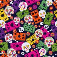 Seamless pattern with Mexican elements vector
