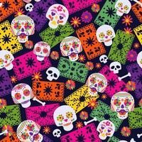 patrón sin costuras con elementos mexicanos vector