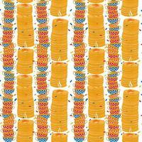 Shrovetide seamless pattern