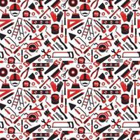 Construction and repair tools pattern vector