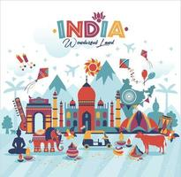Travel India panorama background