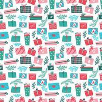 patrón de colorido regalo transparente vector