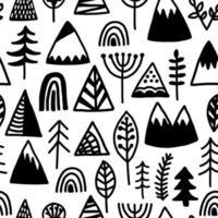 Camping al aire libre de patrones sin fisuras vector
