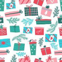 patrón de colorido regalo transparente