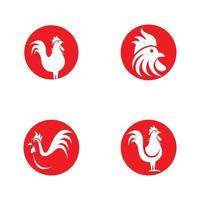 conjunto de iconos de gallo vector