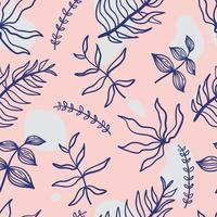 Hand drawn floral seamless pattern.
