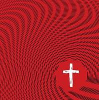 Abstract Sketch Waves Surrounding Christian Cross
