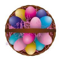 Easter Egg Basket Aerial View