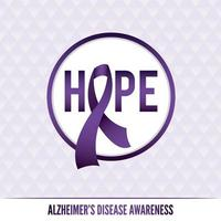 insignias y cinta de concientización sobre la enfermedad de alzheimer