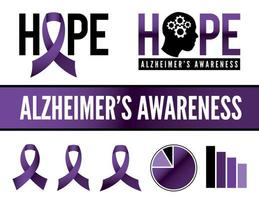 Alzheimer's Disease Awareness Icons and Graphics