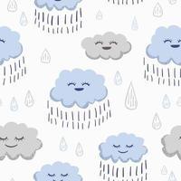 Rain seamless pattern. vector