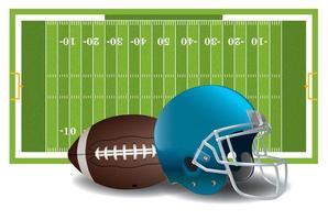 elementos de futbol americano vector
